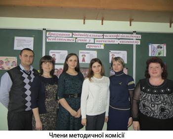 Члени методичної комісії
