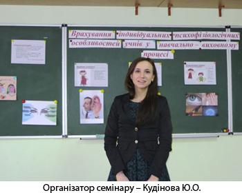Організатор семінару – Кудінова Ю.О.